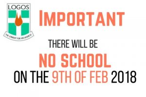 Important Notice - No school on the 9th of February 2018