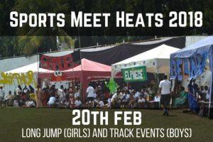Sports Meet Heats 2018 - 20th Feb