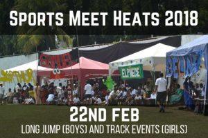 Sports Meet Heats 2018 - 22nd Feb